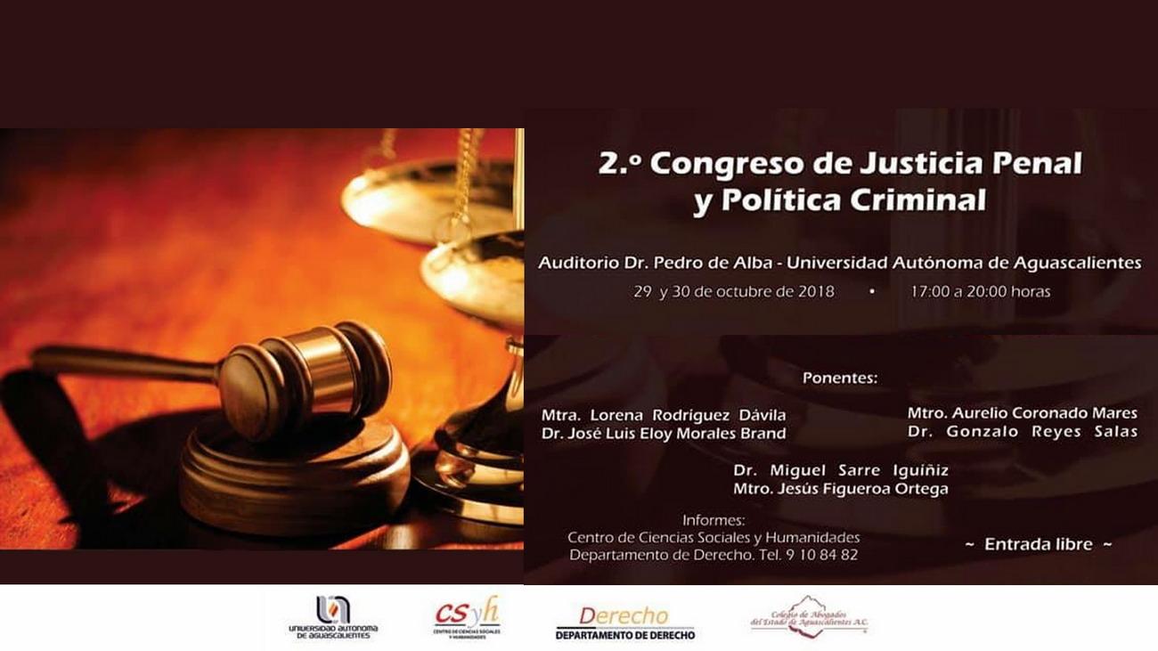 2o. Congreso de Justicia  Penal y Política Criminal