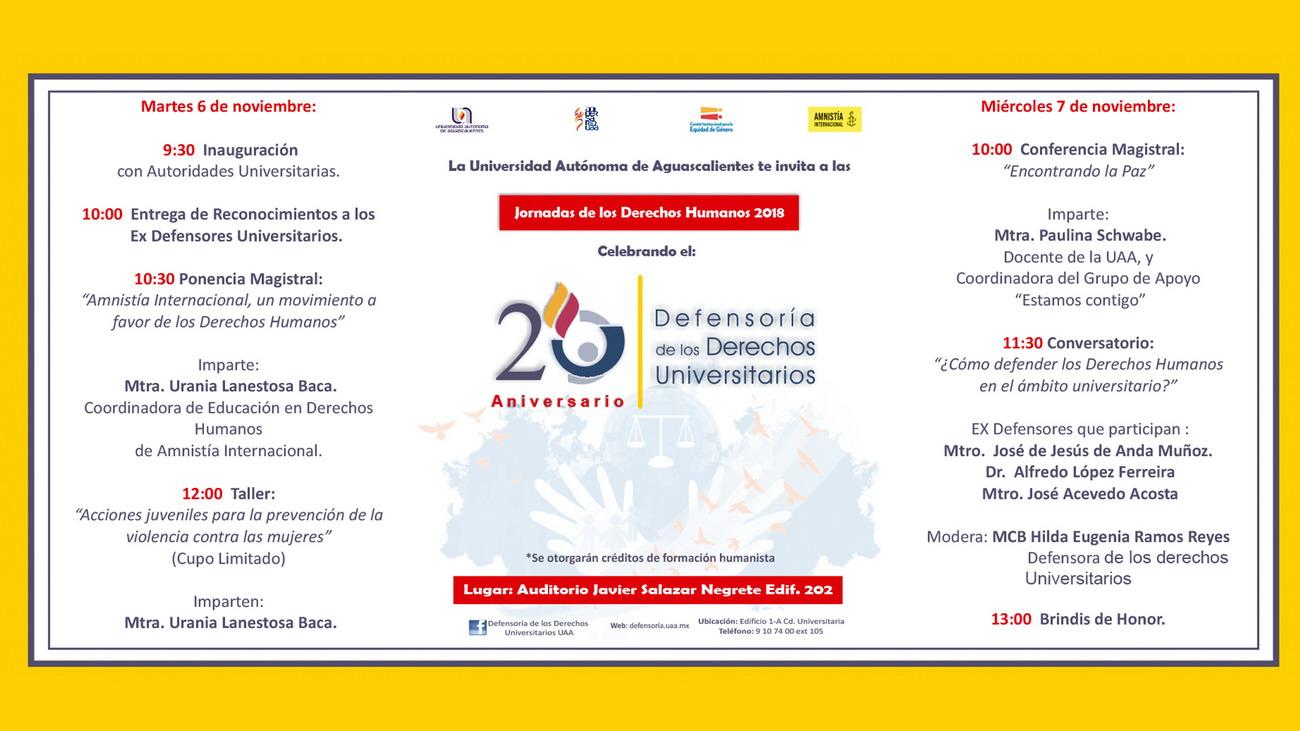 Jornadas de los Derechos Humanos 2018