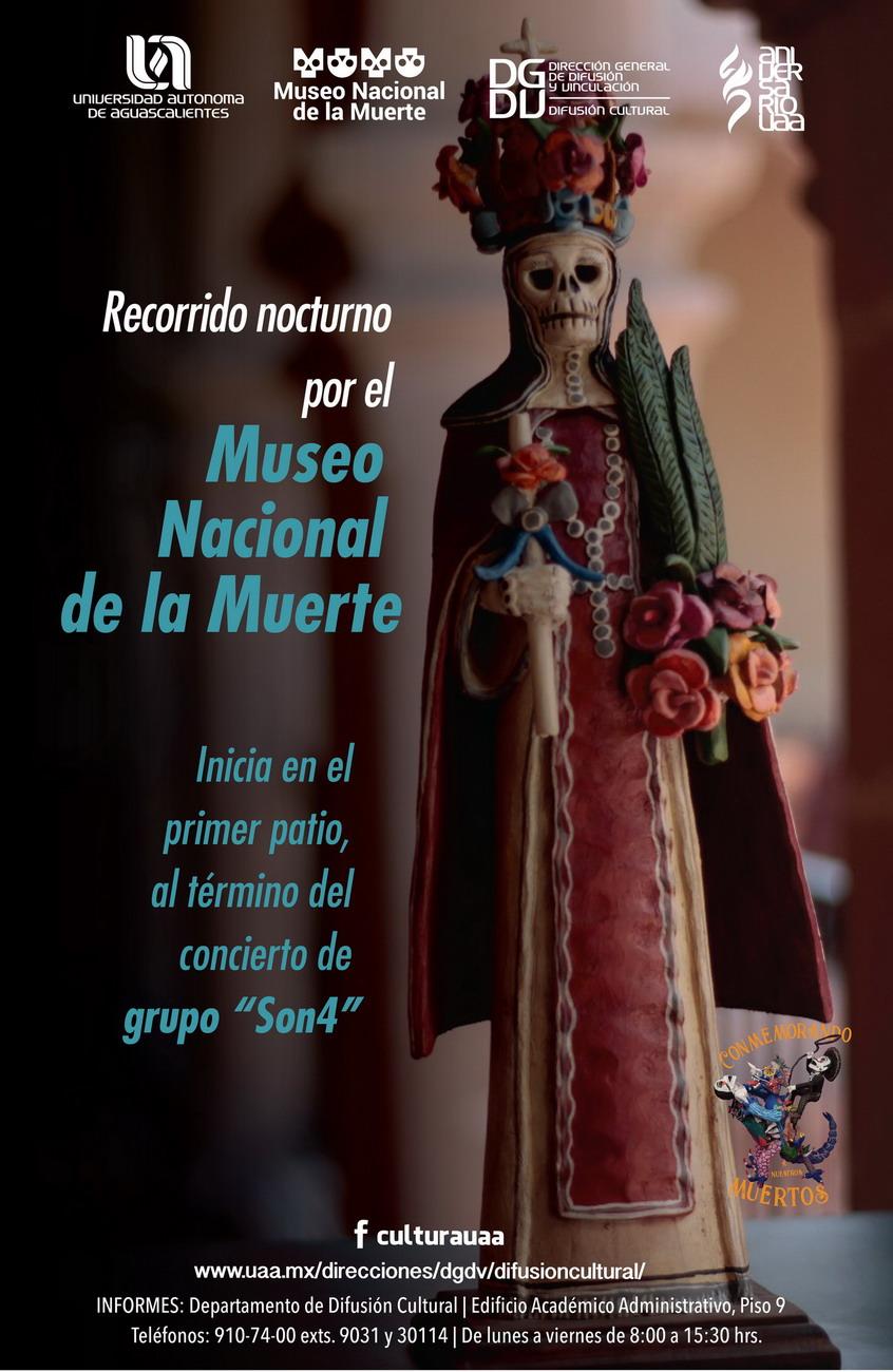 Recorrido nocturno por el Museo Nacional de la Muerte