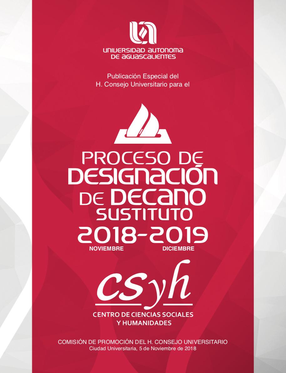 PROCESO ELECTORAL EXTRAORDINARIO DEL CENTRO DE CIENCIAS SOCIALES Y HUMANIDADES 2018-2019