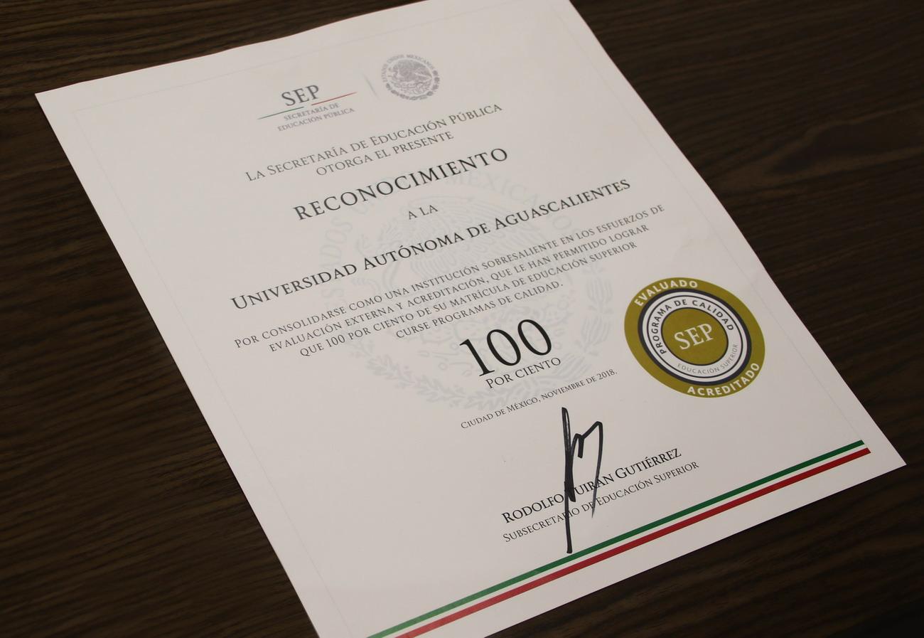 Reconoce Secretaría de Educación Pública la alta calidad académica de la UAA