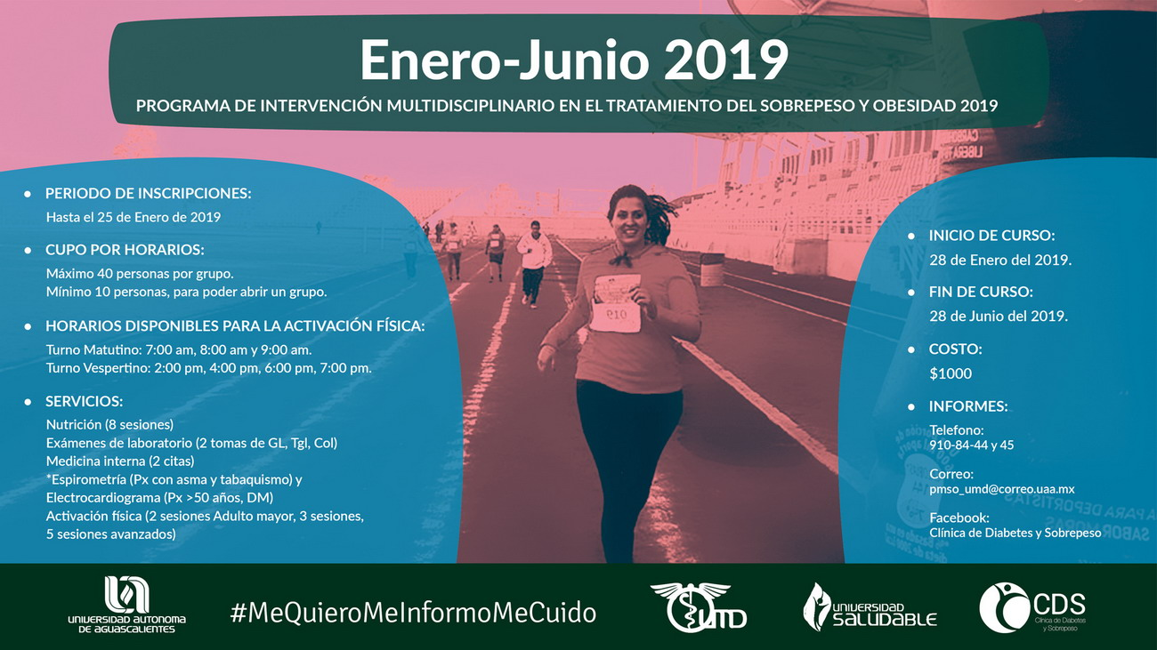 Programa de Intervención Multidisciplinario en el Tratamiento de Sobrepeso y Obesidad 2019