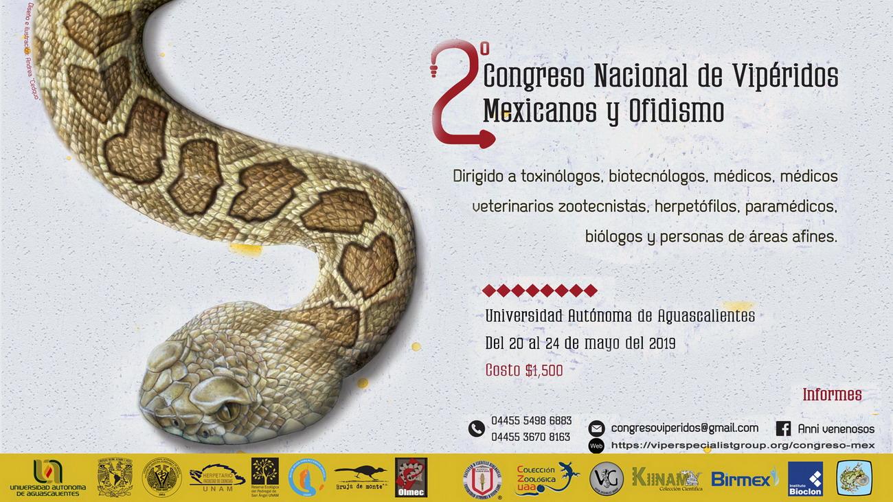 2DO. CONGRESO NACIONAL DE VIPÉRIDOS MEXICANOS Y OFIDISMO