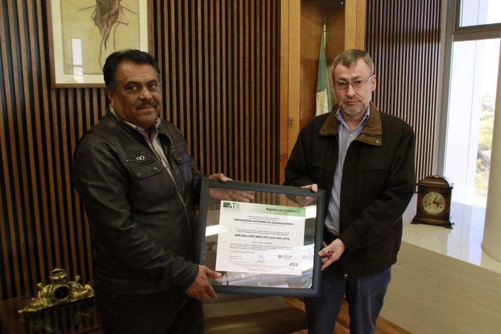 UAA recibe certificación de su Sistema de Gestión Ambiental bajo la norma ISO 14001 2015