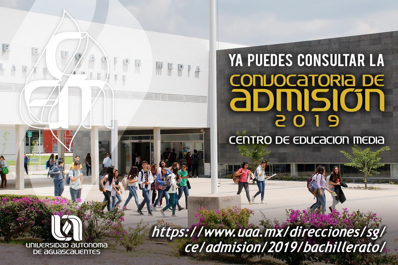 UAA anuncia Proceso de Admisión 2019 para bachillerato