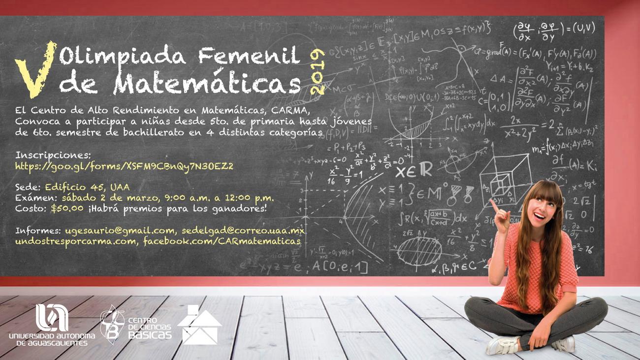 V OLIMPIADA FEMENIL DE MATEMÁTICAS 2019