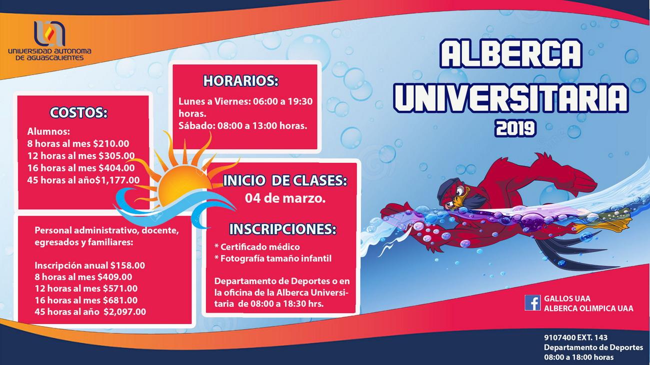 ALBERCA UNIVERSITARIA 2019
