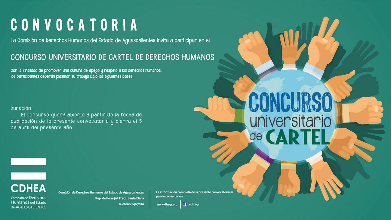 CONCURSO UNIVERSITARIO DE CARTEL DE DERECHOS HUMANOS