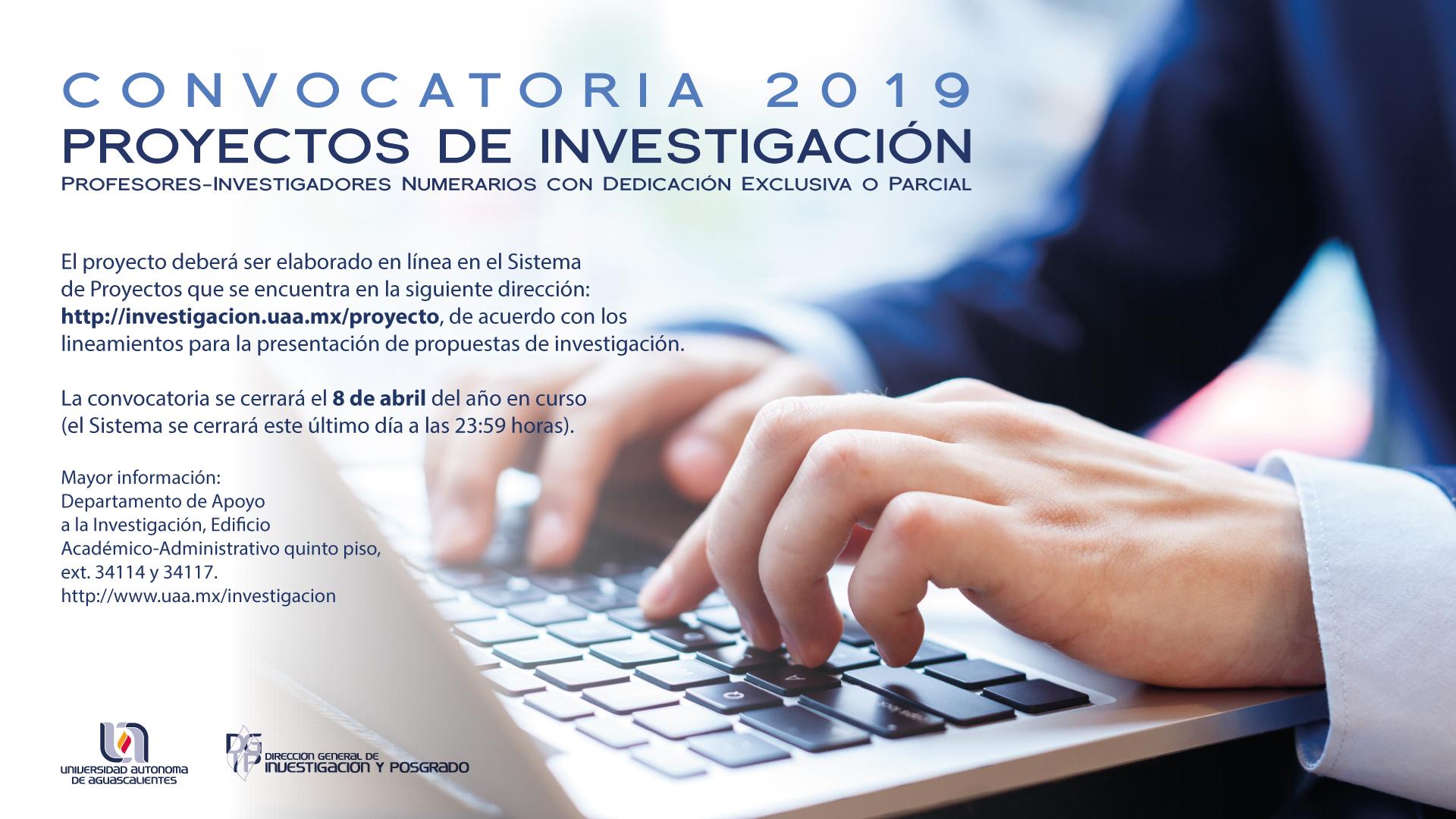 Proyectos de investigación – Convocatoria 2019