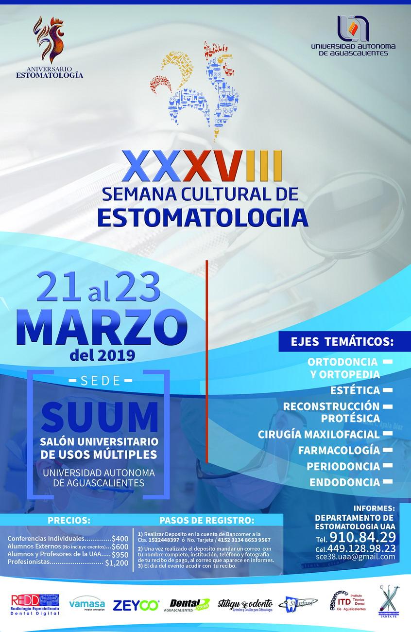 XXXVIII Semana Cultural de Estomatologia