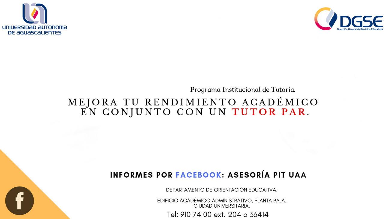 Programa Institucional de Tutorías – Tutor Par