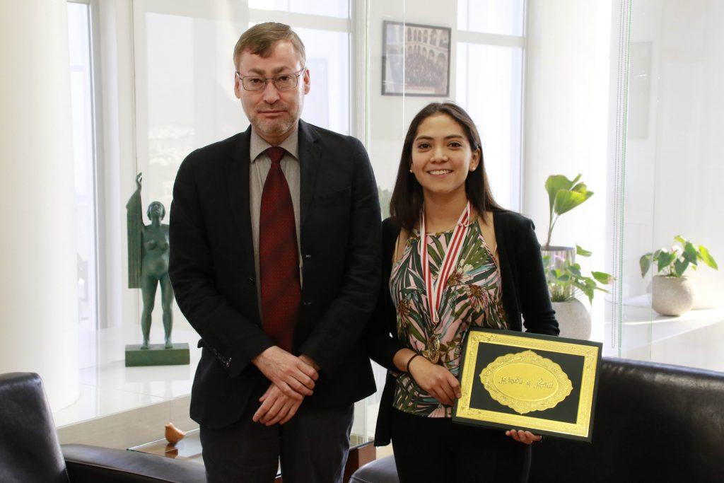 Alumna de la UAA gana el primer lugar en Festival Internacional de Ciencia y Tecnología de Ingeniería 2019