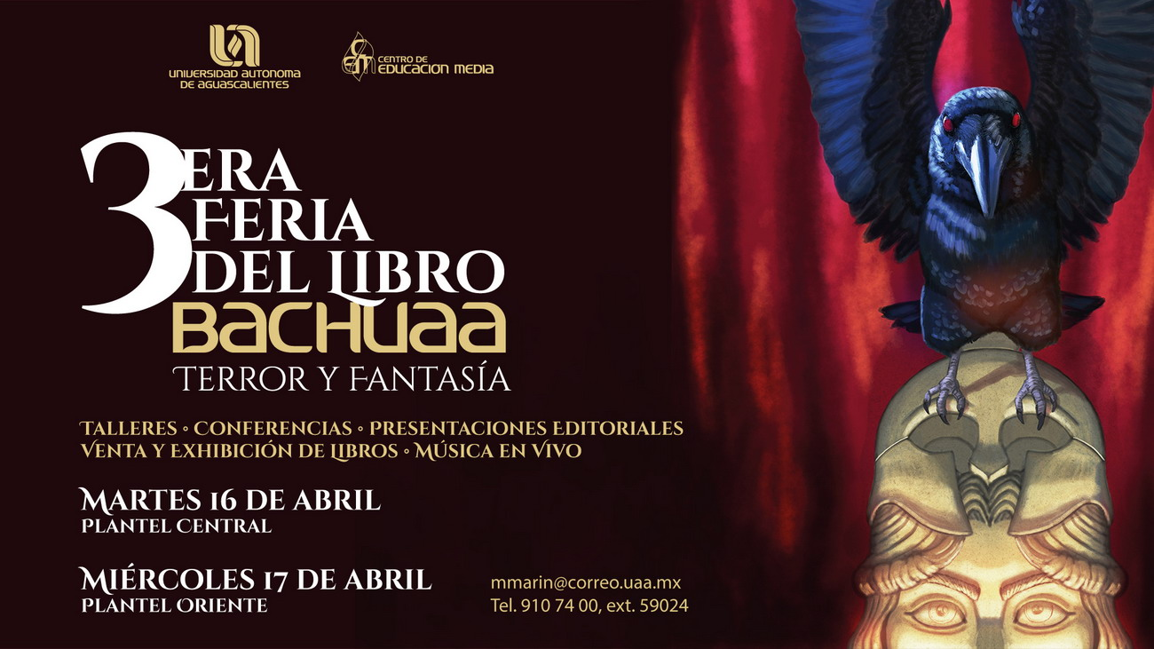 3era. Feria del Libro BACHUAA – Terror y Fantasía