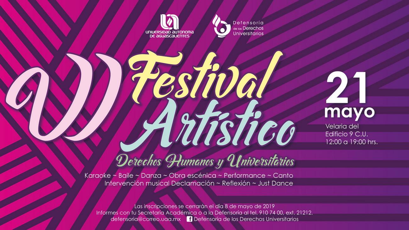 Festival Artístico – Derechos Humanos y Universitario
