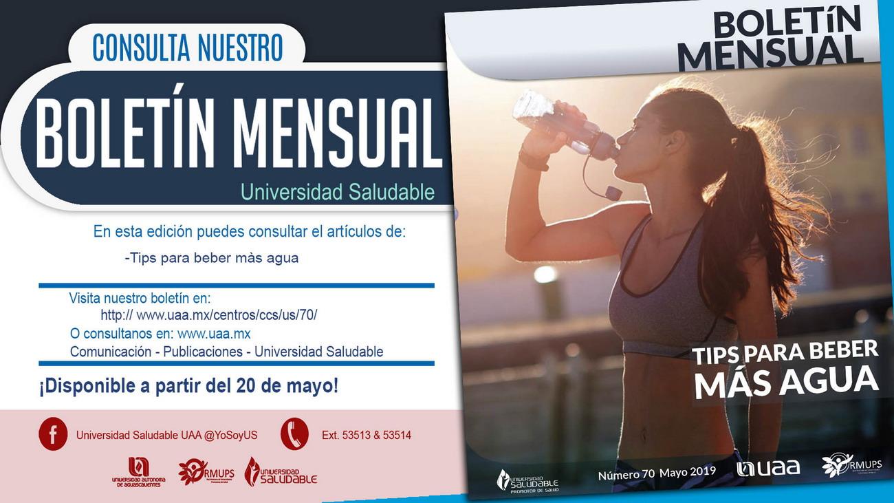 Boletín Mensual Universidad Saludable