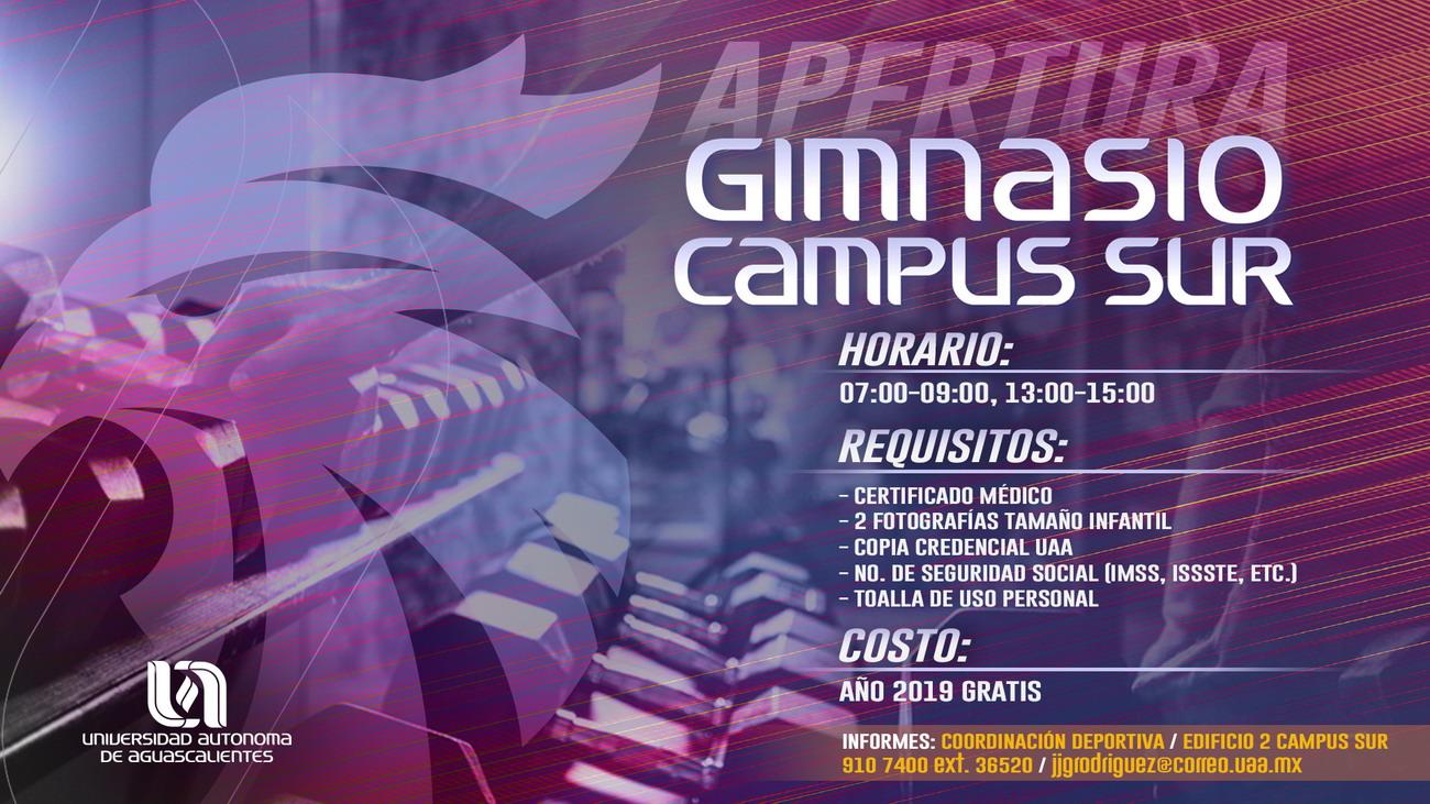 Apertura Gimnasio Campus Sur