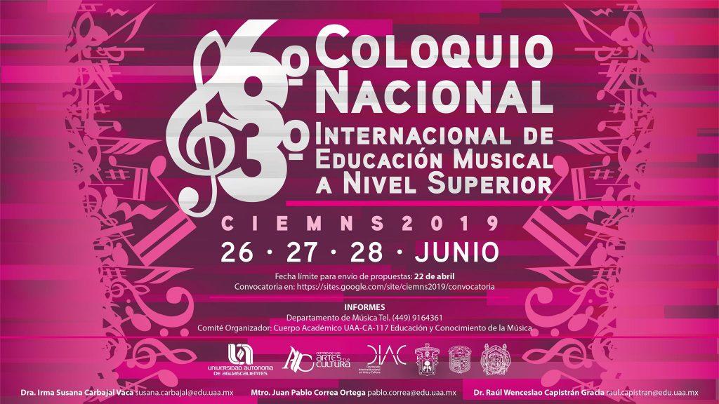 UAA realiza el 6° Coloquio Nacional y 3° Internacional de Educación Musical a Nivel Superior