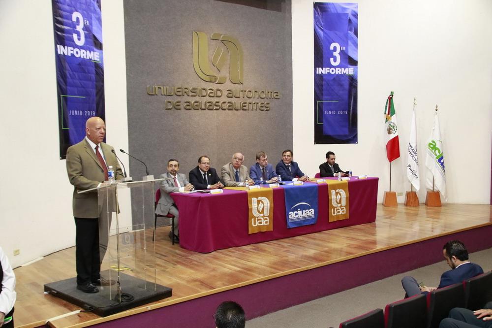 Rinde Asociación de Catedráticos e Investigadores de la UAA su último informe de actividades