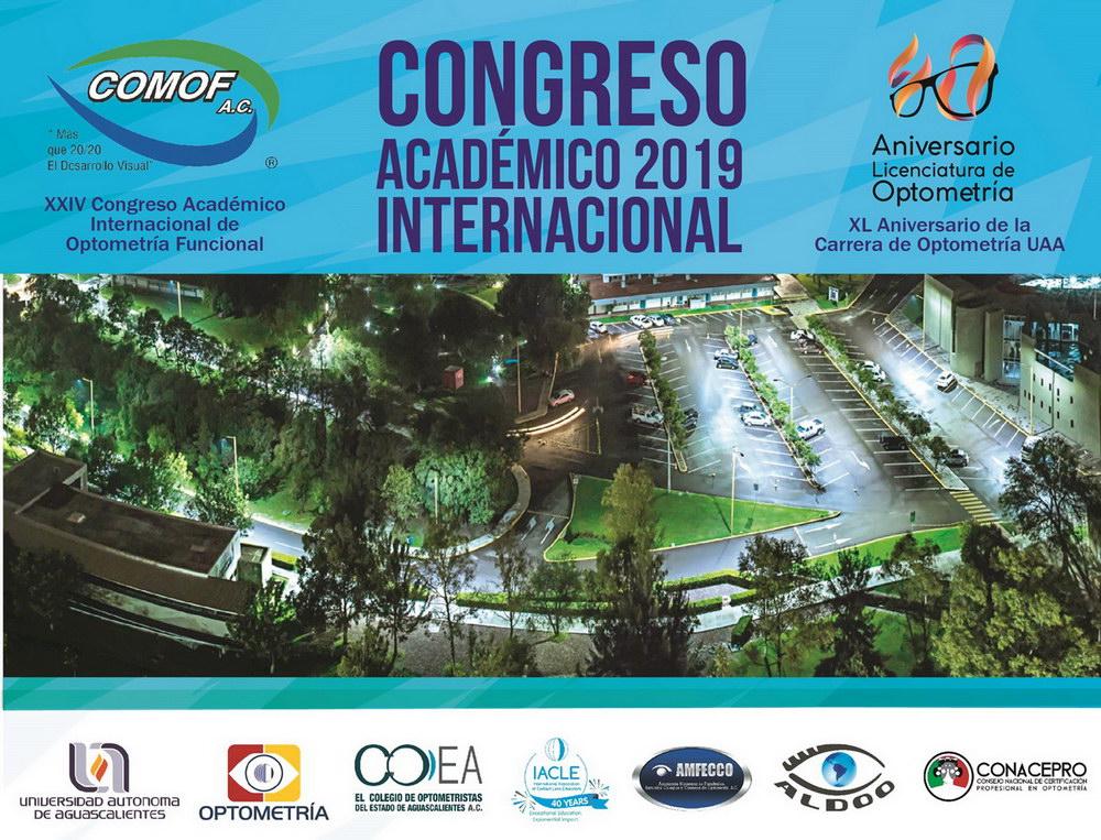 CONGRESO ACADÉMICO 2019 INTERNACIONAL DE OPTOMETRÍA FUNCIONAL