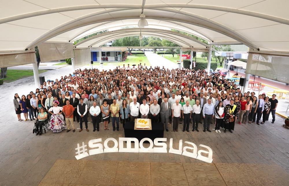 Festeja la Universidad Autónoma de Aguascalientes 46 años de historia
