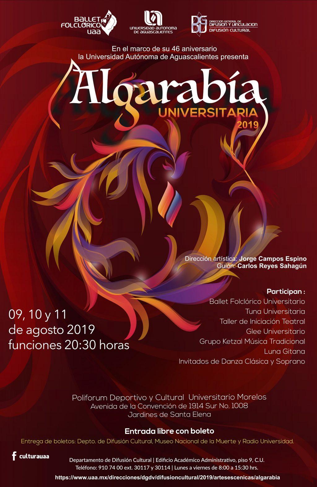 UAA invita al espectáculo multidisciplinario Algarabía Universitaria 2019