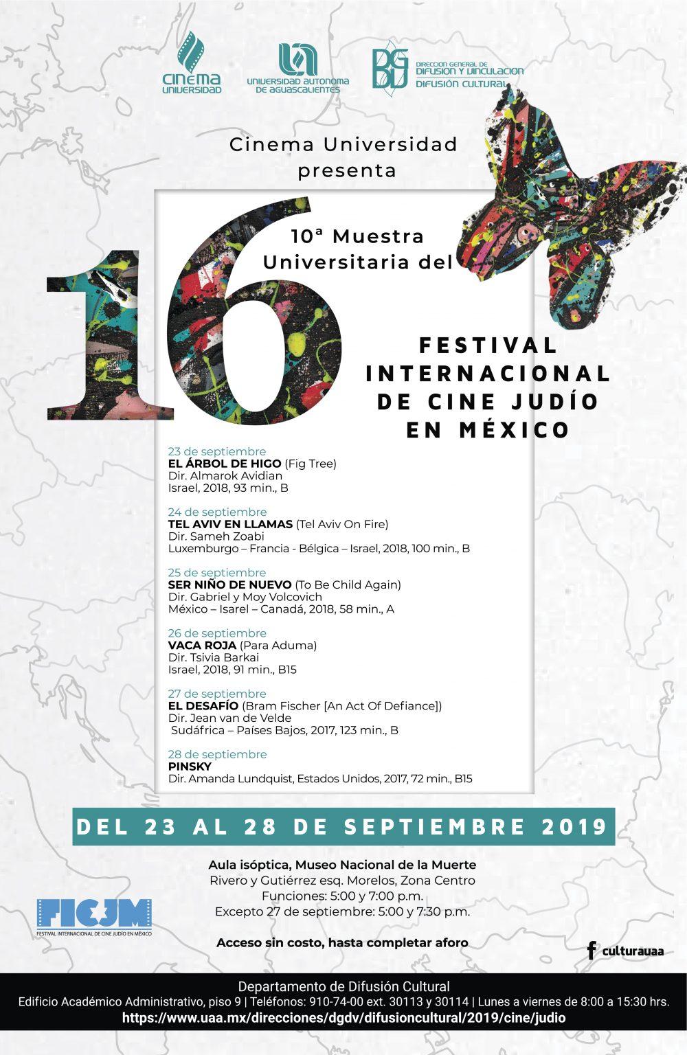 UAA será sede de la 10ª muestra universitaria del Festival Internacional de Cine Judío en México