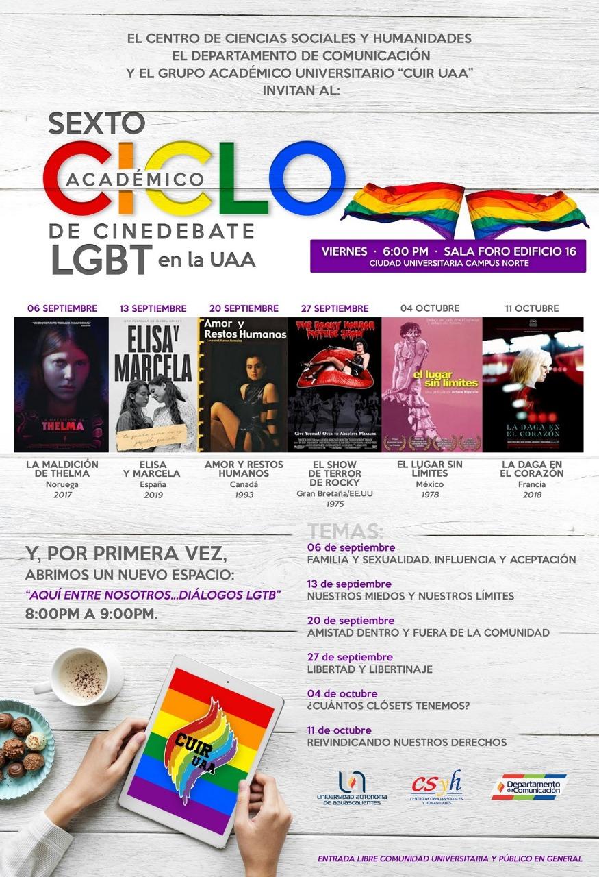 Impulsa UAA cultura de paz a través del Sexto Ciclo Académico de Cine Debate LGBT