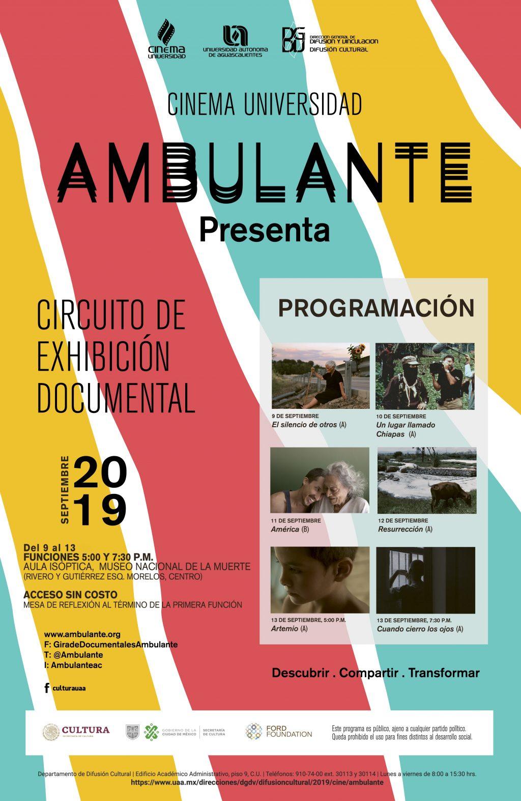 "Proyecta UAA ciclo de cine documental ""Ambulante Presenta"""