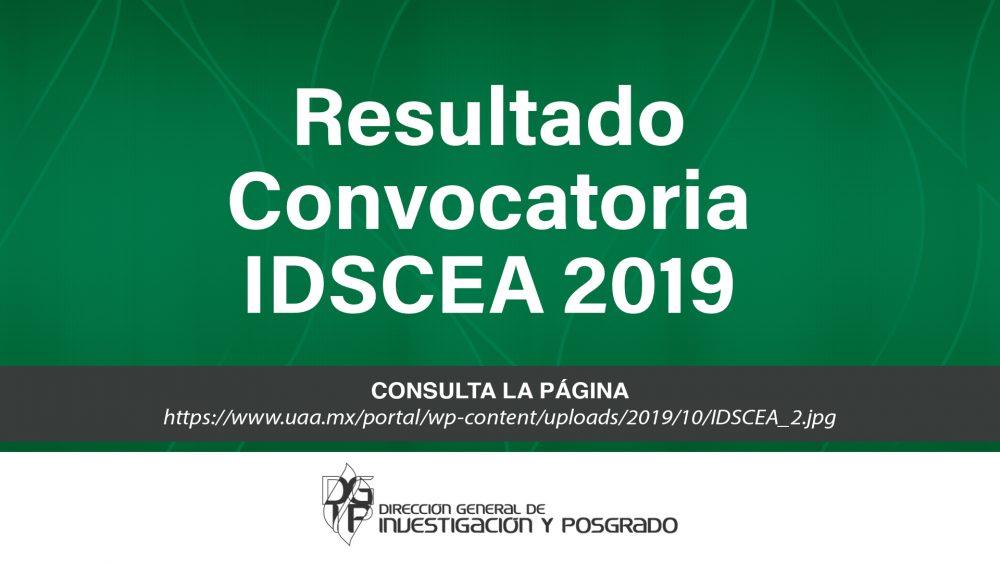 Resultado convocatoria IDSCEA 2019