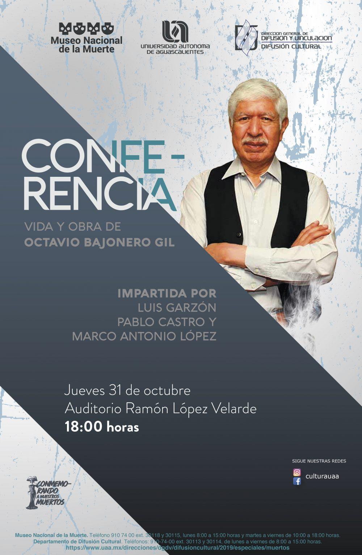 Conferencia – Vida y Obra de Octavio Bajonero Gil