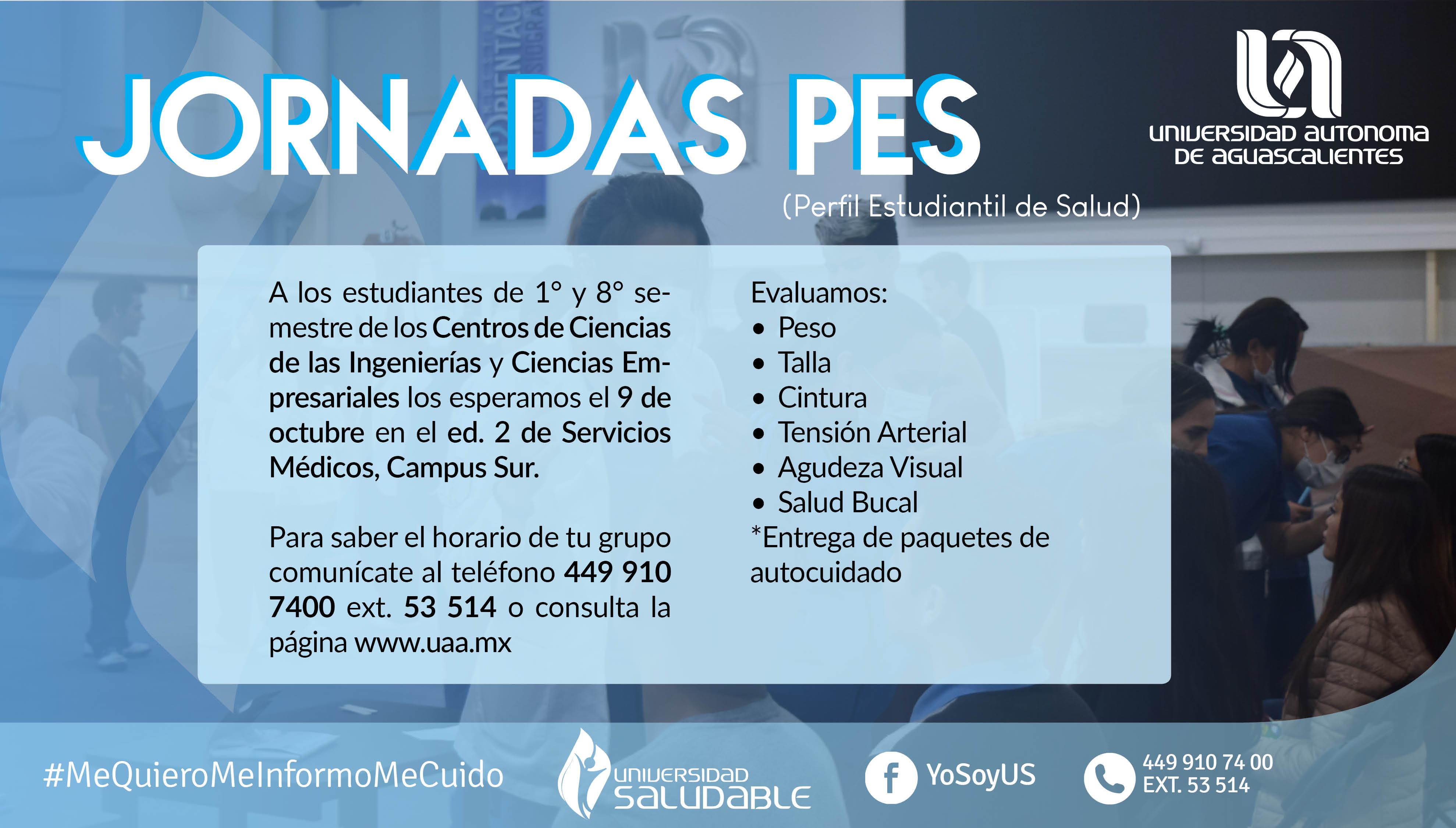 Jornadas PES (Perfil Estudiantil de Salud) CAMPUS SUR