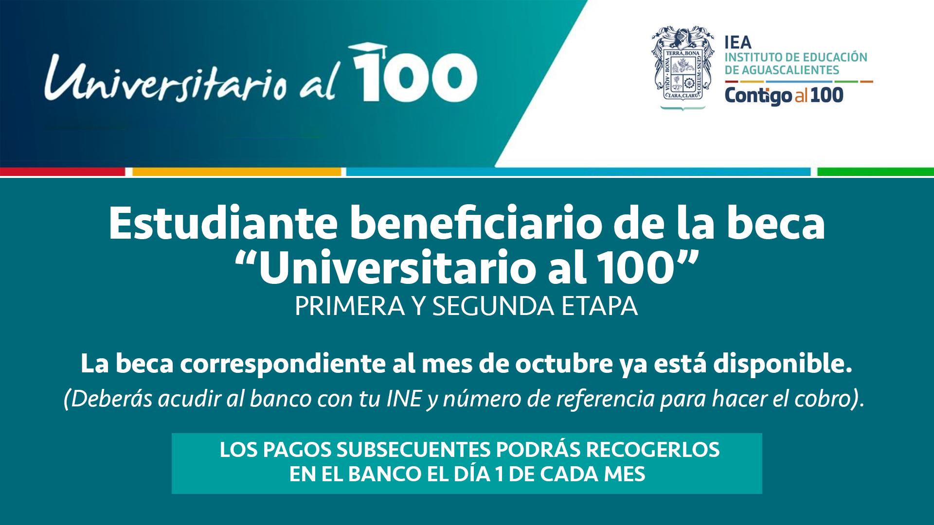 Universitario al 100 – Entrega de beca octubre