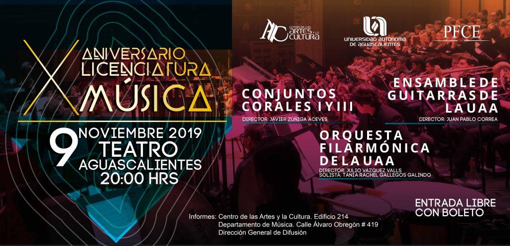 X Aniversario de Licenciatura en Música