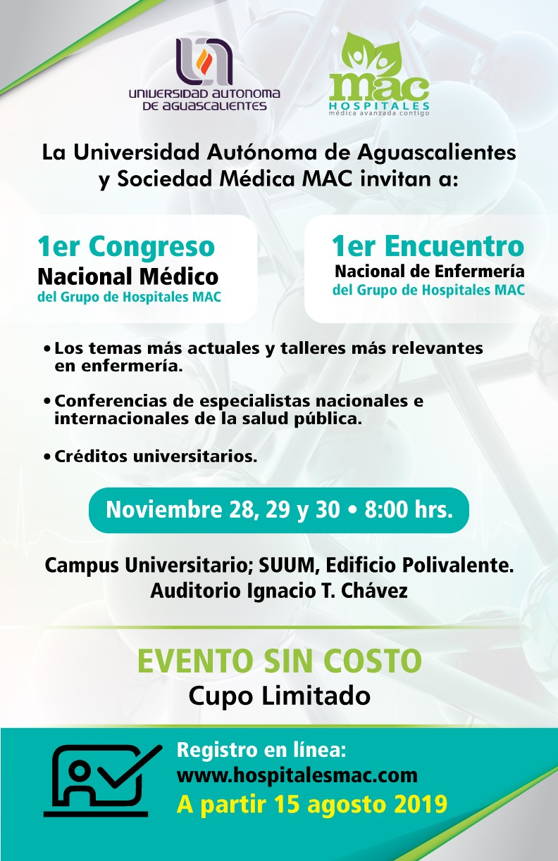1er Congreso Nacional Médico y 1er Encuentro Nacional de Enfermería