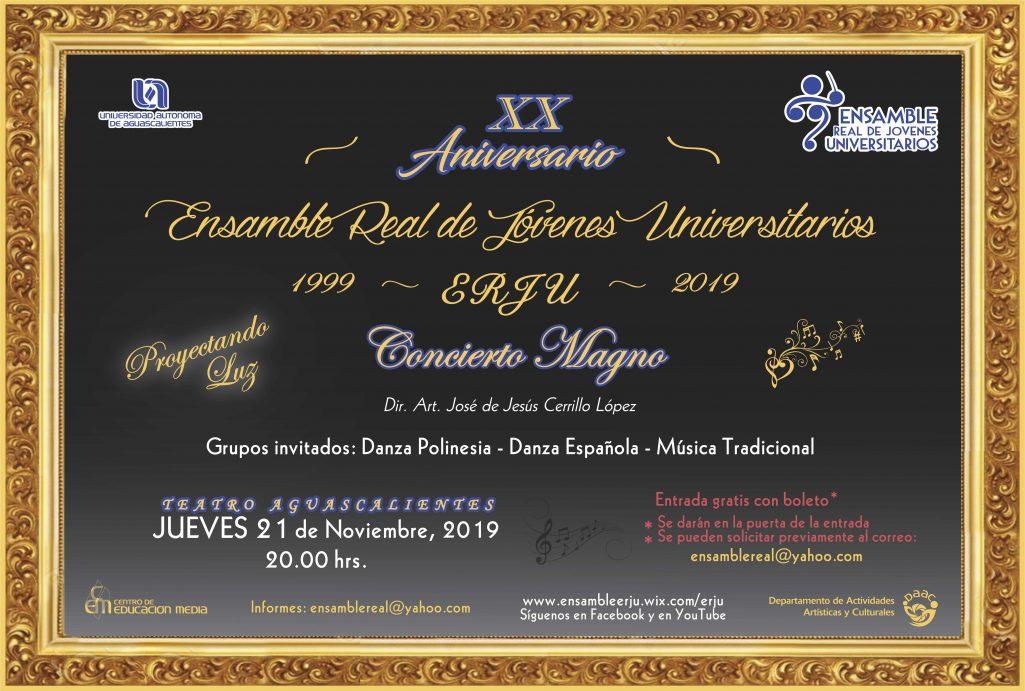 CONCIERTO DEL ENSAMBLE REAL DE JÓVENES UNIVERSITARIOS (ERJU)