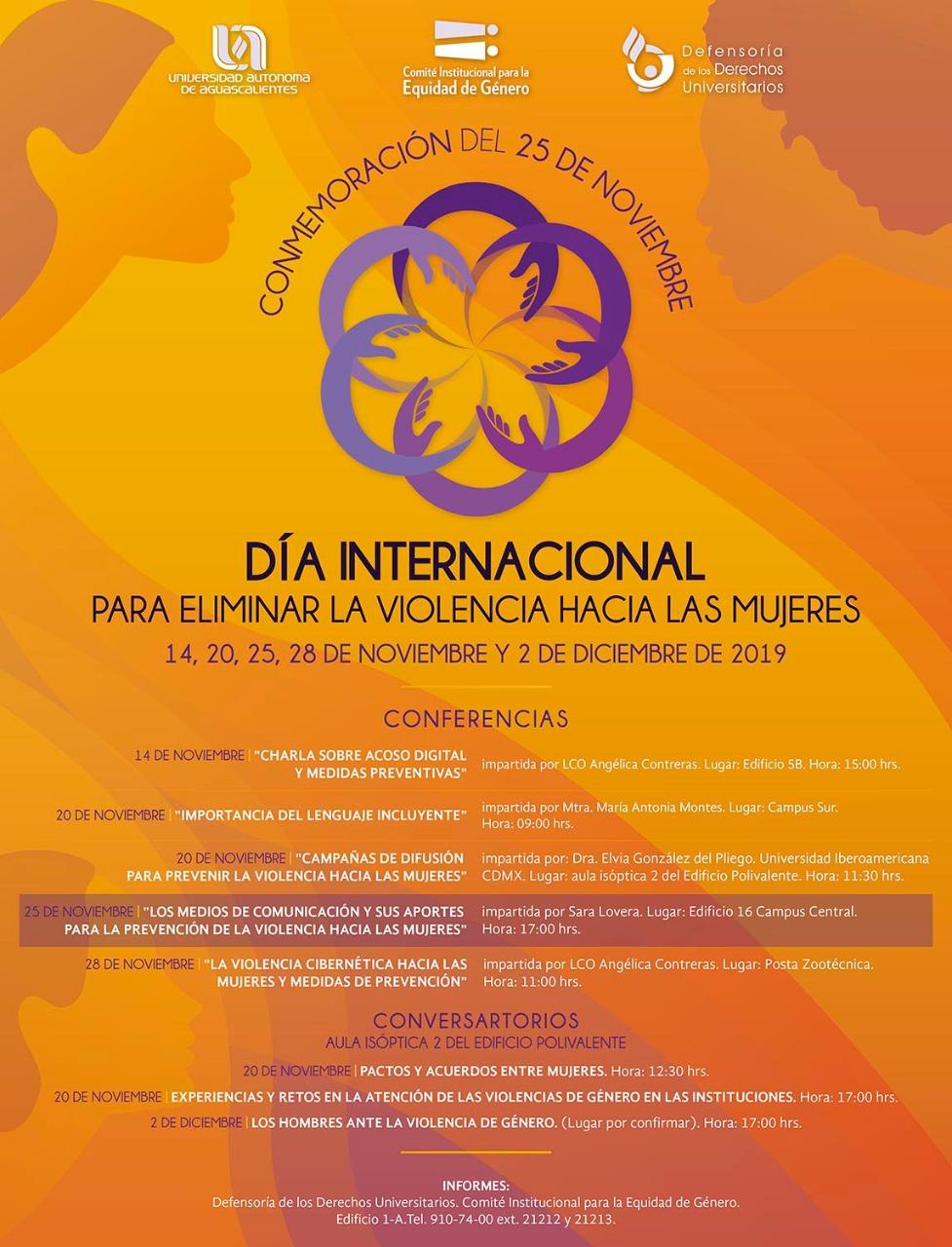 Día internacional para eliminar la violencia hacia las mujeres