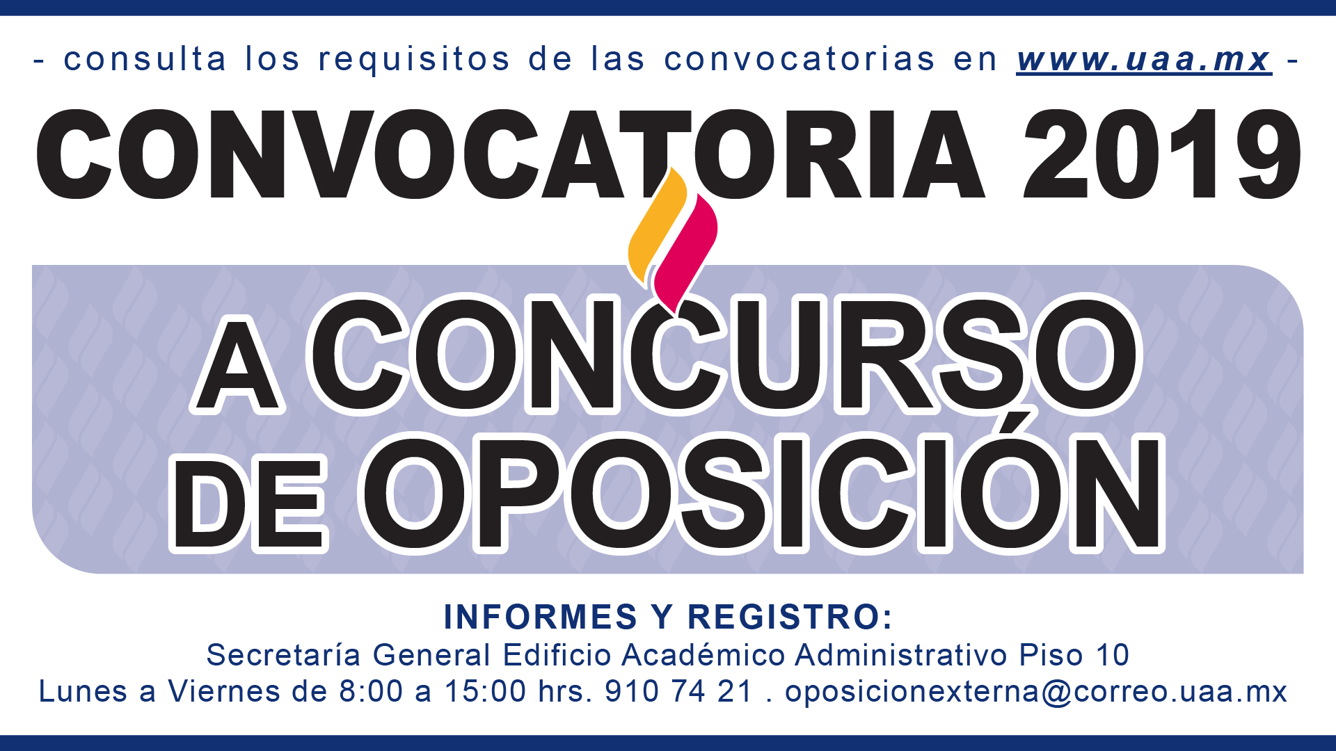 CONVOCATORIA 2019 A CONCURSO DE OPOSICIÓN