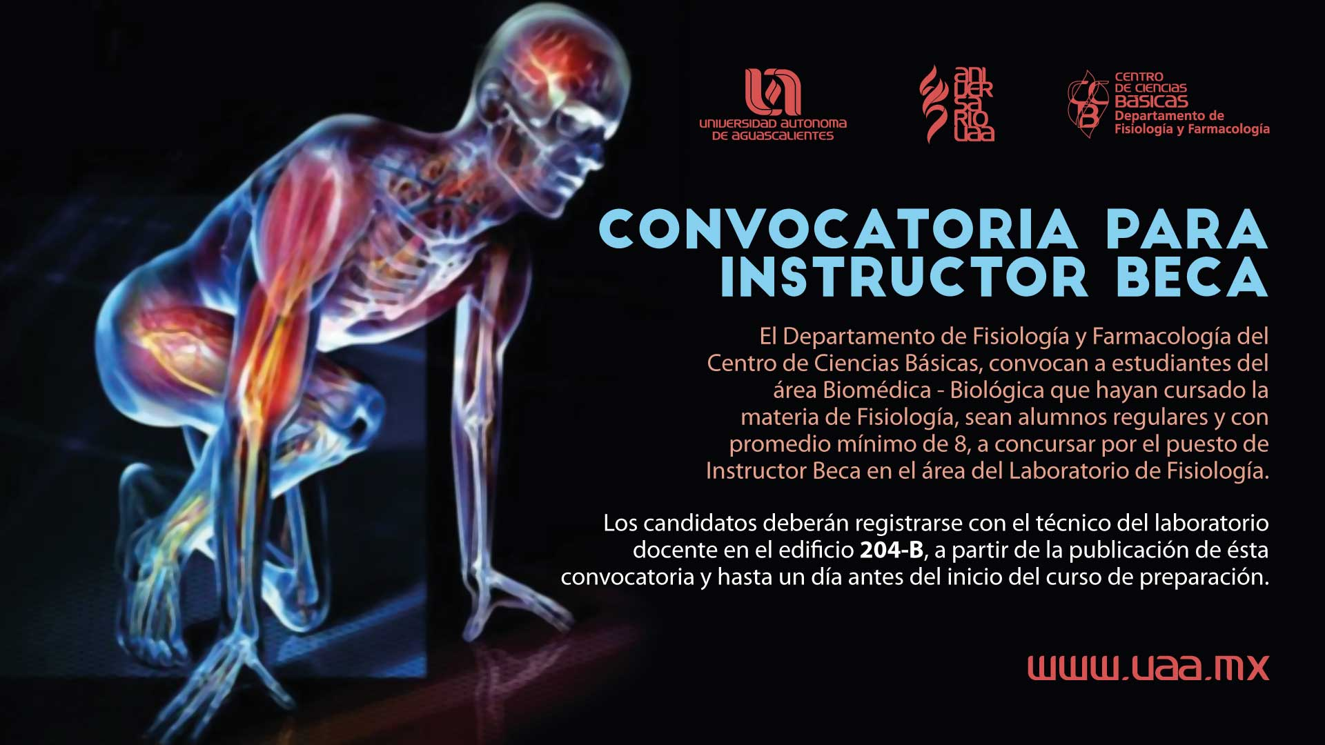 Convocatoria de Instructor Beca