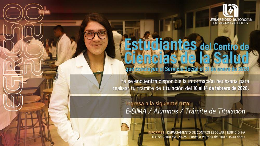 Egreso 2020 – Estudiantes  de CCS