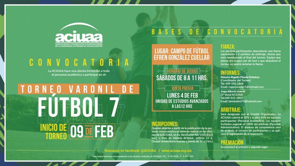 Torneo Varonil Fútbol 7