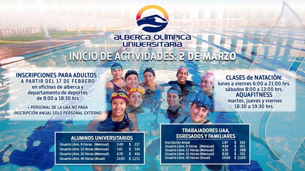Alberca Olímpica Universitaria – Inicio de Actividades
