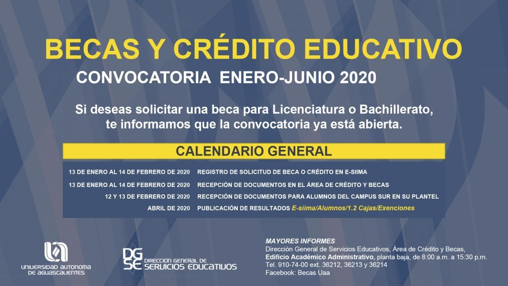 BECAS PARA ESTUDIANTES DE LICENCIATURA Y BACHILLERATO