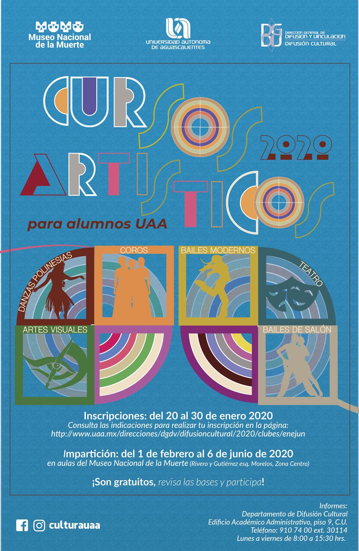 Cursos Artísticos del semestre febrero-junio 2020