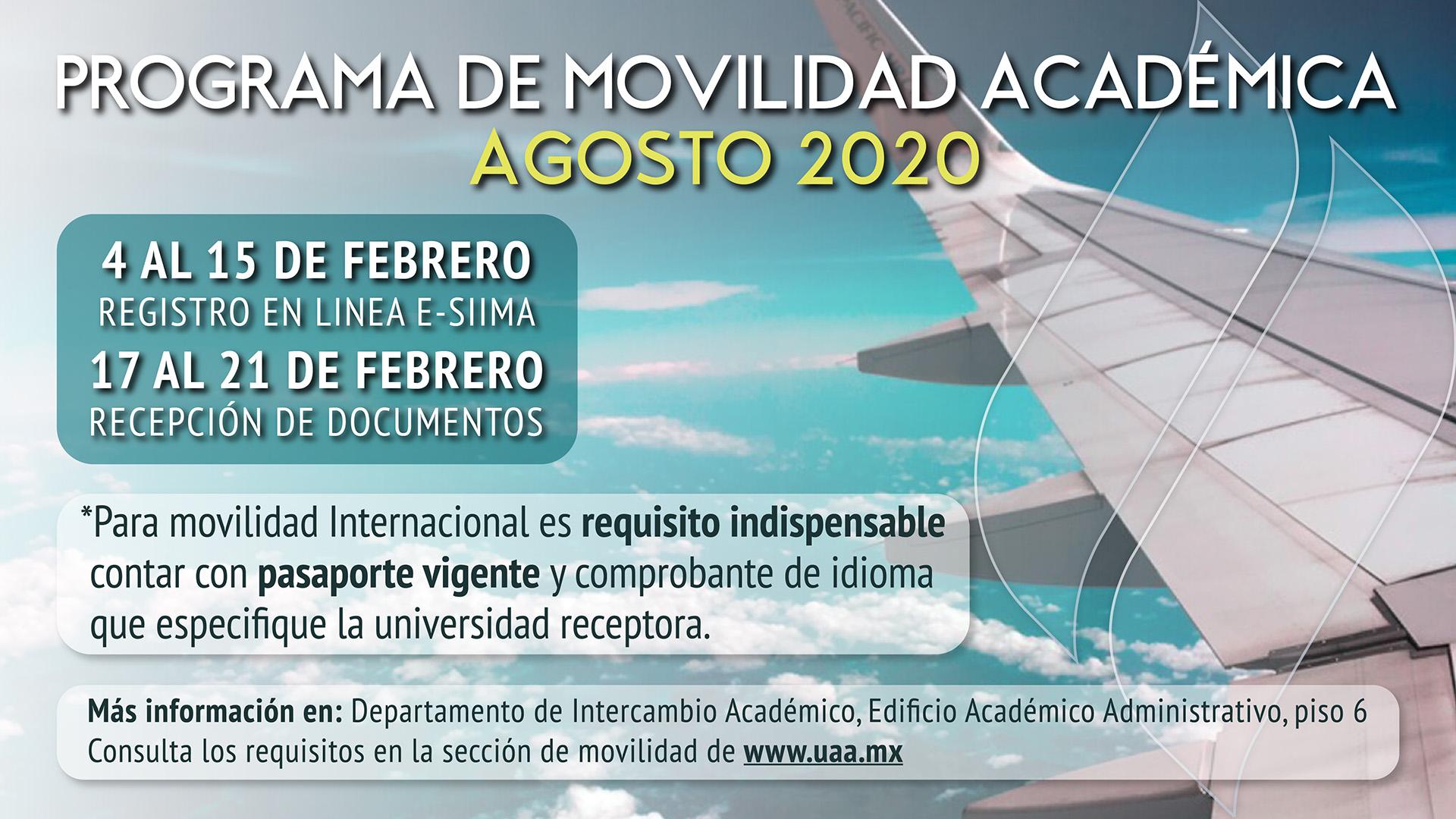 Prepara tu Movilidad Académica Agosto 2020