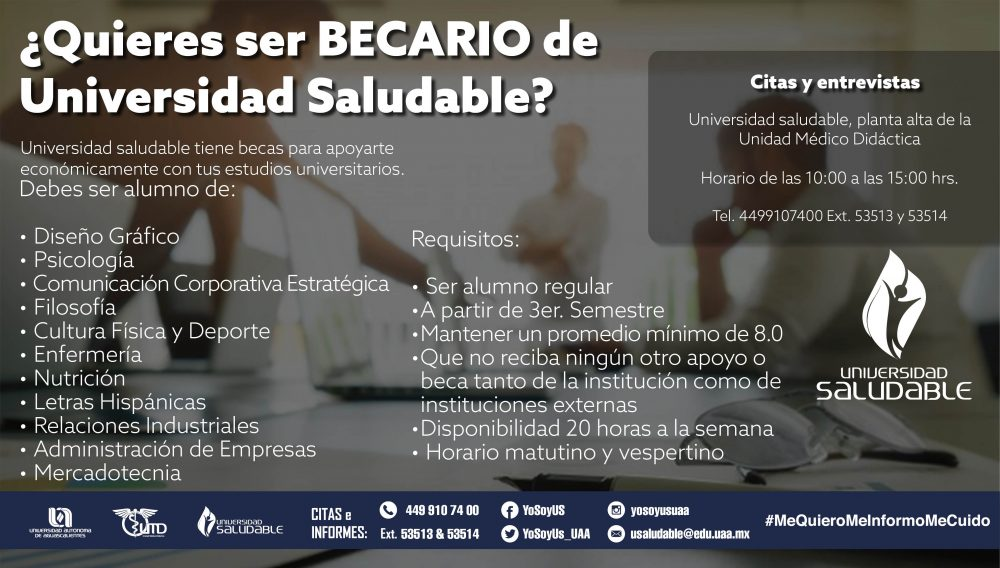 Becario de Universidad Saludable