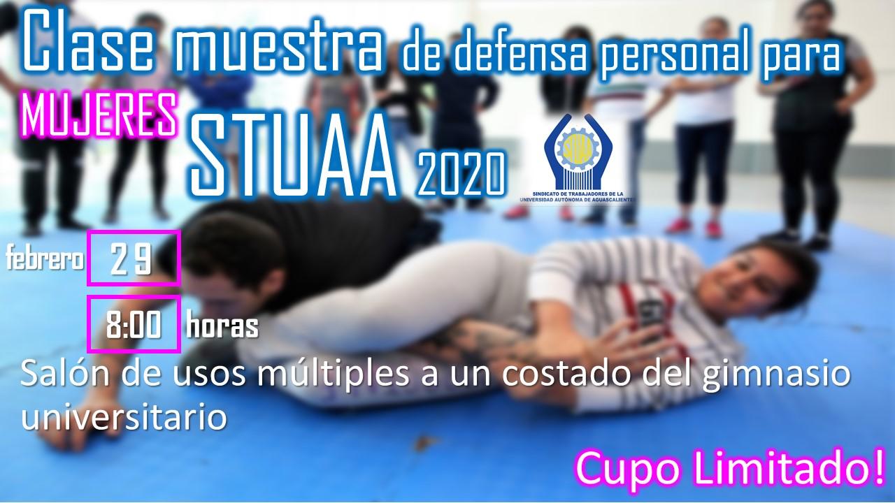 INVITACIÓN A CLASE MUESTRA DE DEFENSA PERSONAL PARA MUJERES