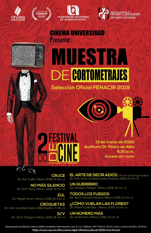 Muestra de cortometrajes FENACIR 2019