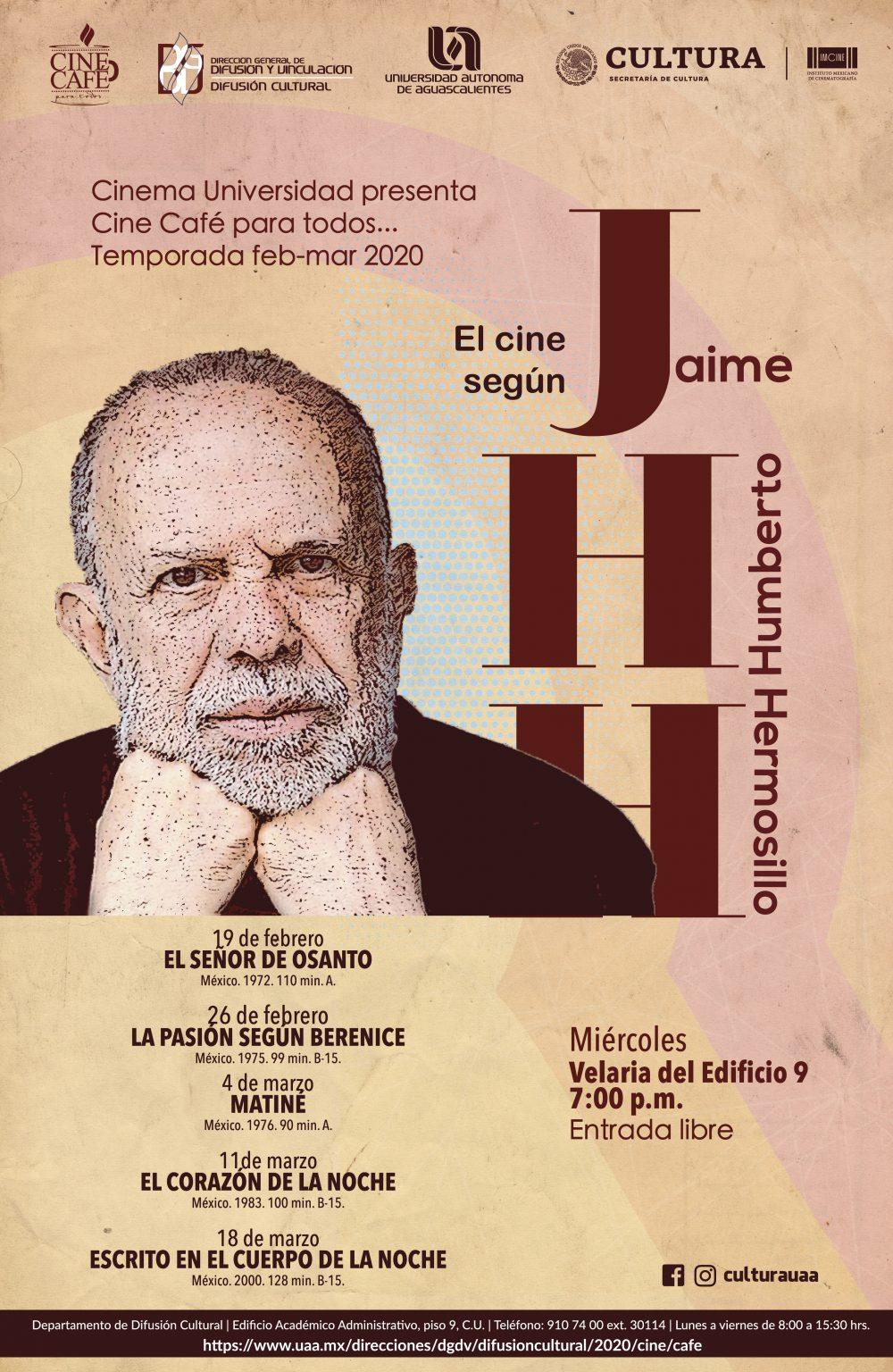 Cine Café – Ciclo: EL CINE SEGÚN HERMOSILLO