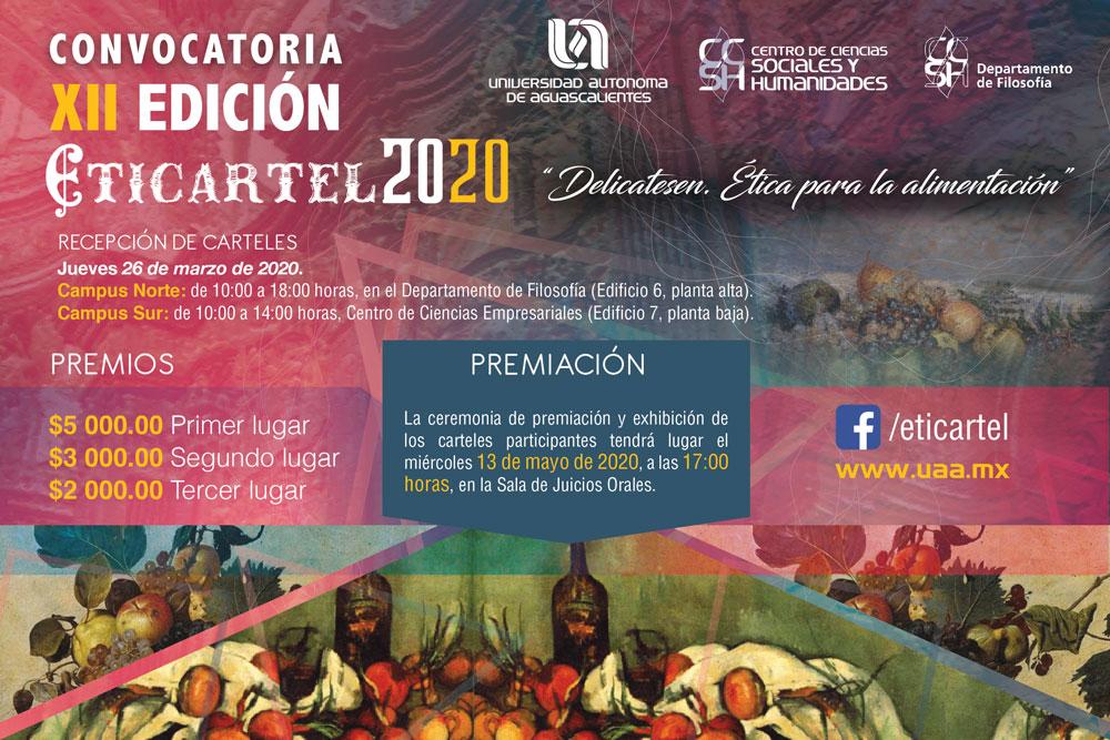 """XII Concurso Eticartel 2020 – """"Delicatesen. Ética para la alimentación""""."""