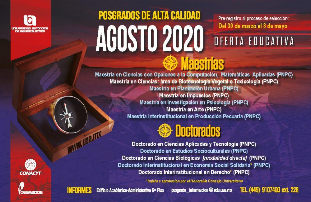 POSGRADOS AGOSTO 2020